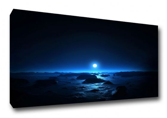 The Sea and the Moon at Midnight. Art Canvas. Sizes: A3/A2/A1